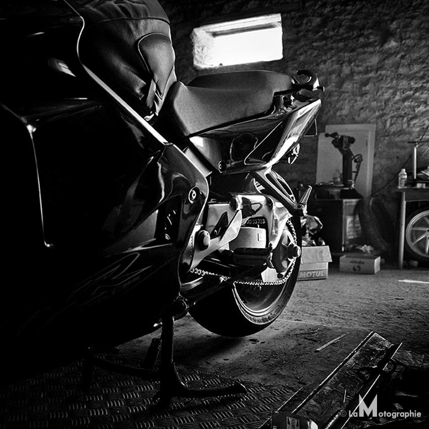 Denim and leather 1 for Garage honda montlhery